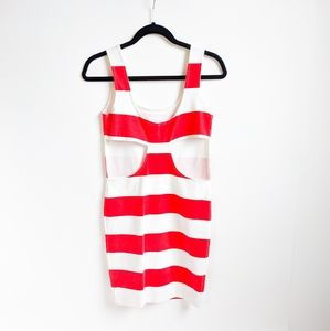 Pencey Striped Cut Out Back Dress